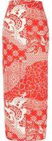 River Island Womens Red print maxi skirt