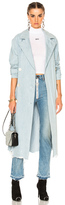 Alexander Wang Oversized Trench Coat in Blue.