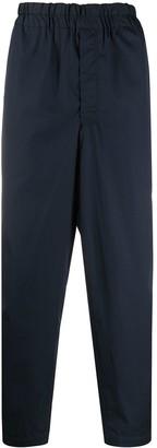 Comme des Garçons Shirt Elastic-Waistband Tapered Trousers