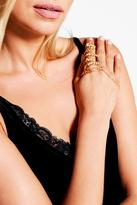 Boohoo Elena Leaf and Chain Ring Hand Harness