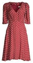 Rebecca Taylor Women's Sunrise Dot Stretch-Silk Dress