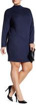 Bobeau Long Sleeve Funnel Neck Dress (Plus)