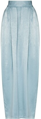 PARIS GEORGIA High-Waisted Pleat-Detailing Maxi Skirt