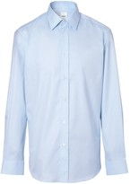 Burberry Slim Fit Monogram Motif Cotton Poplin Shirt