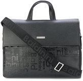 Baldinini embossed logo laptop bag