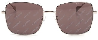 Balenciaga Eyewear Logo Printed Lenses Sunglasses