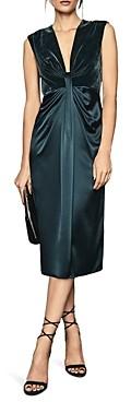 Reiss Livvy Velvet-Bodice Dress
