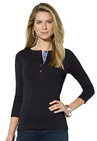 Lauren Ralph Lauren Three-Quarter Sleeved Cotton Henley