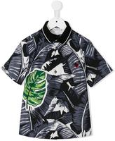 Dolce & Gabbana tropical print polo shirt