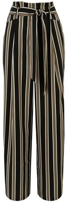 Warehouse Soft Stripe Wide Leg Trousers
