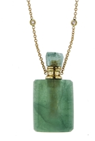 Jacquie Aiche Medium Rectangle Fluorite Potion Bottle Necklace
