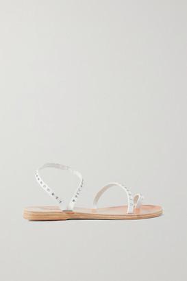 Ancient Greek Sandals Apli Eleftheria Swarovski Crystal-embellished Leather Sandals - White