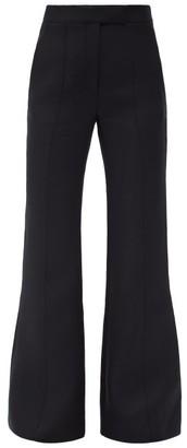 Gabriela Hearst Leda High-rise Flared Wool-blend Trousers - Black