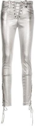 Manokhi Metallic Skinny Jeans