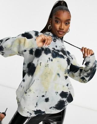Public Desire oversized hoodie co-ord in tie dye