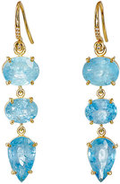 Irene Neuwirth Women's Triple-Drop Earrings-BLUE