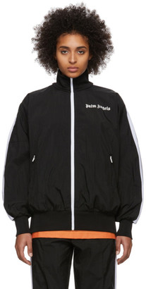 Palm Angels Black and White Logo Track Jacket