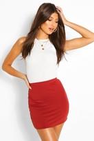 Boohoo Maisy Basic Jersey Mini Skirt