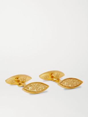 Kingsman + Deakin & Francis Engraved Gold-Plated Cufflinks
