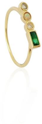 Daixa Somed Judith Ring - 18K Gold Plated & Opal