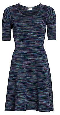 Milly Women's Spacedye Fit-&-Flare Dress