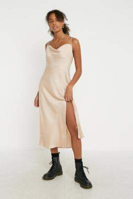 Finders Keepers Cristina Tan Slip Dress - white M at Urban Outfitters