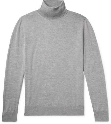 Canali Mélange Merino Wool Rollneck Sweater
