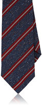 Isaia Men's Mixed-Stripe Necktie-NAVY