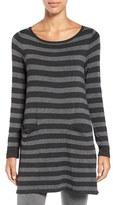 Eileen Fisher Petite Women's Cozy Stretch Stripe Bateau Neck Tunic