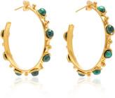 Sylvia Toledano Petite Candy Malachite Hoop Earrings