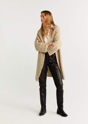 MANGO Chunky knit cardigan medium brown - XS - Women