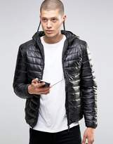 Brave Soul Quilted Padded Jacket With In Built Headphones