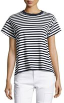 Derek Lam 10 Crosby Striped Ringer Tee, Blue/White