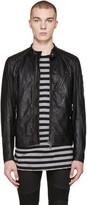 Belstaff Black Leather V Racer Jacket