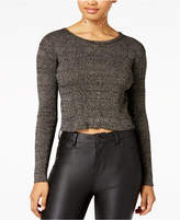 The Edit by Seventeen Juniors' Lace-Up Cropped Sweater
