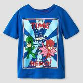 PJ Masks Toddler Boys' Long Sleeve Hero T-Shirt - Blue