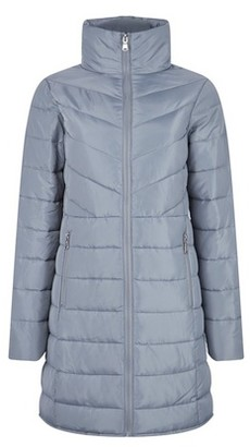 Dorothy Perkins Womens Grey Long Padded Jacket With Recycled Wadding, Grey