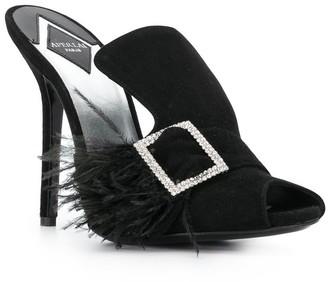 Aperlaï Bejewelled Buckle Sandals