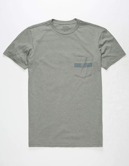 RVCA Hat Patch Mens Pocket Tee