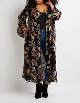 Charlotte Russe Plus Size Floral Print Duster Kimono