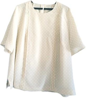 BEIGE Non Signe / Unsigned Silk Top for Women