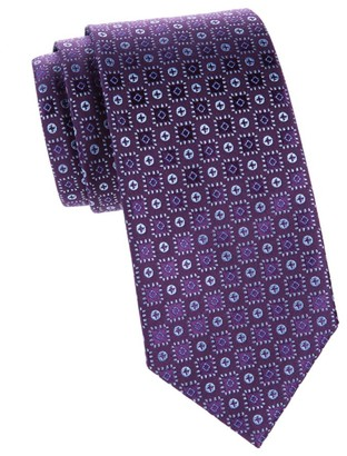 Charvet Neat Button Silk Tie