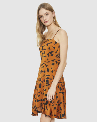 Cooper St Wild Cat Wrap Mini Dress