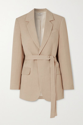 Co Belted Woven Blazer - Taupe