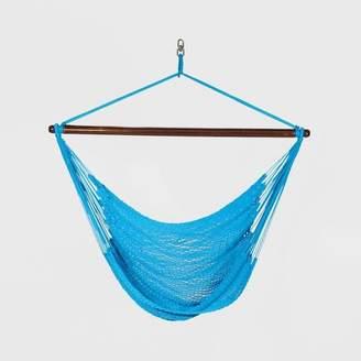 Algoma Caribbean Tight Weave Hanging Patio Hammock Chair - Light Blue