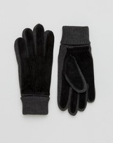 Dents Kendal Suede Gloves In Black