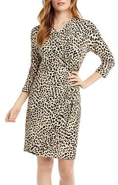 Karen Kane Cascade Cheetah Print Wrap Dress