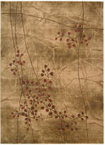 "Nourison Area Rug, Somerset Collection ST74 Latte Blossom 3'6"" x 5'6"