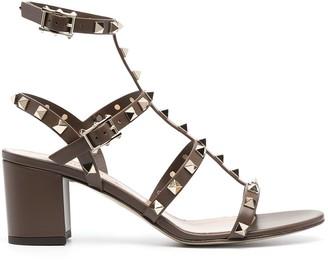Valentino Rockstud 65mm block-heel sandals
