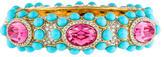 Kenneth Jay Lane Turquoise Resin and Crystal Bangle Bracelet